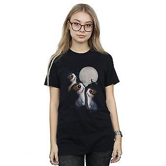 Star Wars Damen die letzten Jedi Porgs Sonnenuntergang Freund Fit T-Shirt
