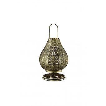 مصباح طاولة معدنية النحاس القديمة الثلاثي الإضاءة خمر ياسمين