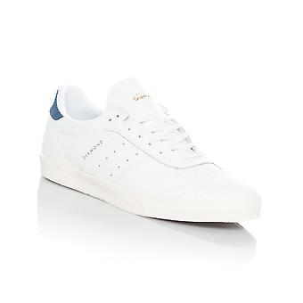 Diamond Supply Co White Leather Barca Shoe