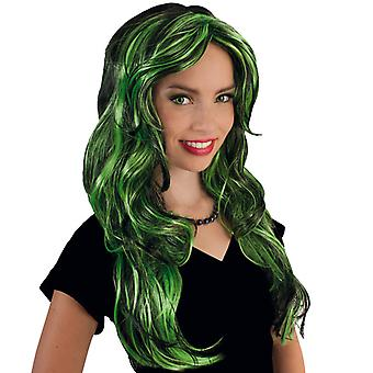Funny Star Green long hair wig