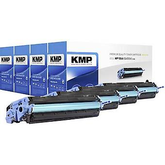 KMP Toner cartridge combo pack replaced HP 124A, Q6000A, Q6001A, Q6002A, Q6003A Black, Cyan, Magenta, Yellow 2500 pages H-T81V