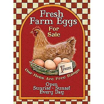 Fresh Farm Eggs For Sale Metal Sign 400Mm X 300Mm