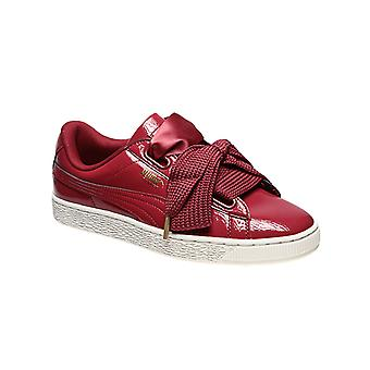 PUMA sneaker basket heart patent sneakers Red