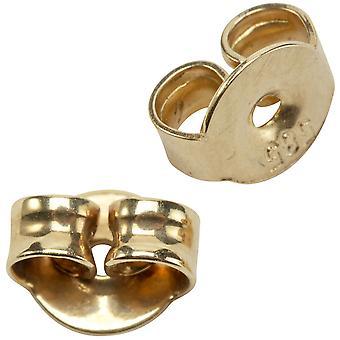 Tellerpousetten Ohrringhalter Ohrringklemmen 585/-Gelbgold