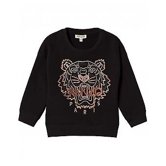 Kenzo Kids iconica tigre ricamata posteriore sudore