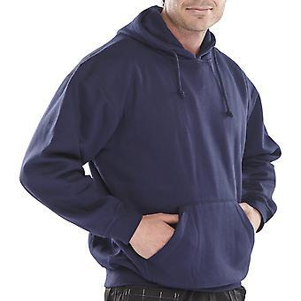 Click 65/35 Polycotton Hooded Sweatshirt 300G Navy - Clpcsh