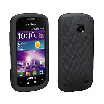 OEM Verizon Samsung Illusion I110 Cover in Silicone (nero)
