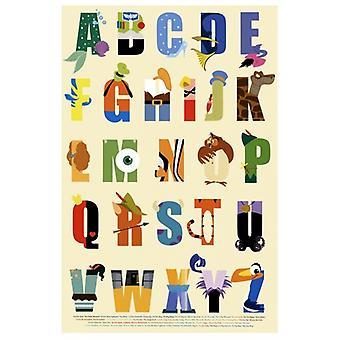 Disney - Alphabet Poster Print