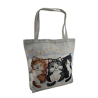 Chatons de Peek-a-Boo colorés tapisserie Tote Bag