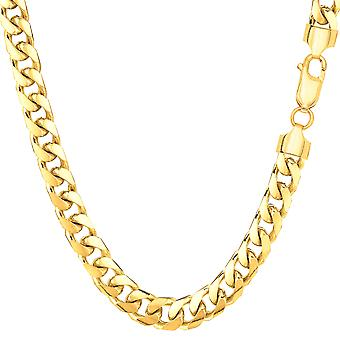 14 k geel massief gouden Miami Cubaanse Link Chain Mens armband, 5.7 mm, 8.5