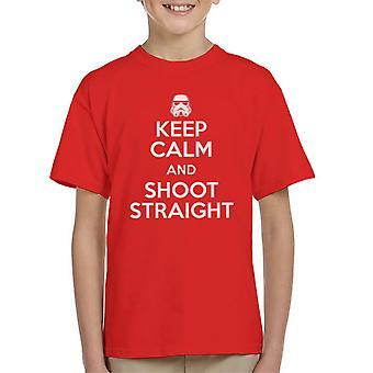 Original Stormtrooper Ruhe bewahren und schießen gerade Kinder T-Shirt