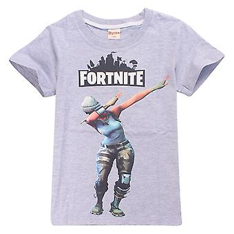 Fortnite t-skjorte for barn (Dab, grå)