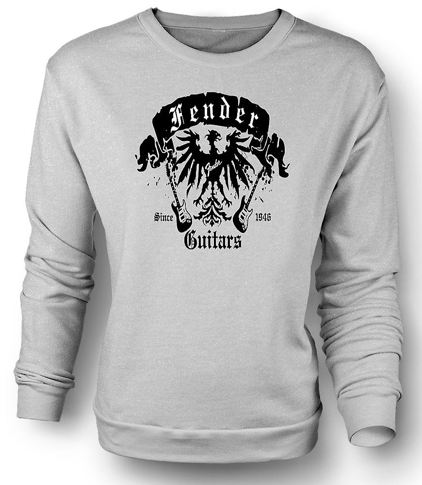 Mens Sweatshirt Fender Strat Guitars 46 - Rock