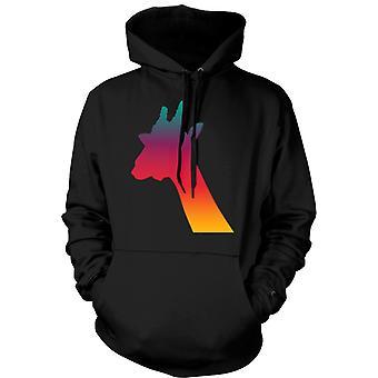 Kids Hoodie - Rainbow Giraffe Psychedelic Design