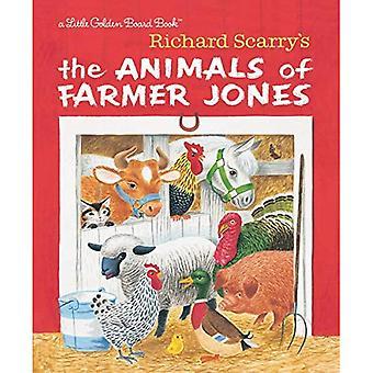 Richard Scarry van de dieren of boer Jones (gouden boekje) [Board boek]