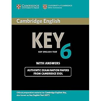 Cambridge English Key 6 Students Book with Answers by Cambridge ESOL