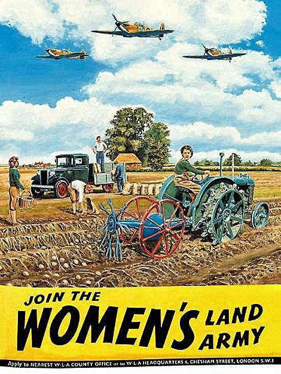 Join The Womens Land Army steel sign  (og)
