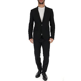 Dsquared2 Black Wool Suit