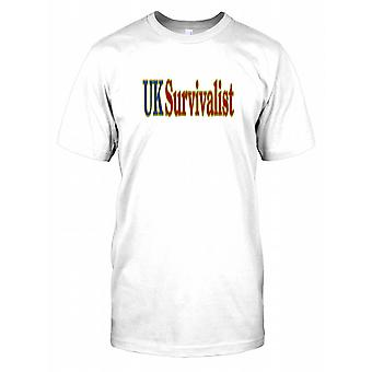 Regno Unito Survivalist Kids T Shirt