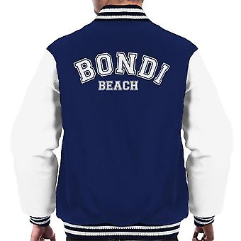 Bondi Beach College Text Men's Varsity Jacket