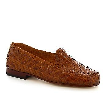 Leonardo Shoes zapatos mocasines hechos a mano de mujer en cuero de becerro
