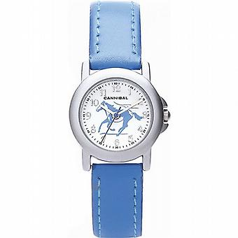 Cannibal Active Horse Design Blue Boys-Girls Leather Strap Watch CK193-05
