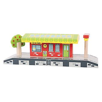 Bigjigs Rail Wooden Village Station Playset Railway Accessories Platform