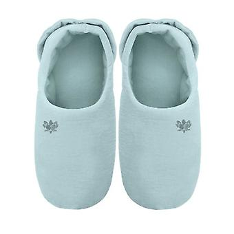 Ladies Soothing You Microwavable Slippers: Aqua