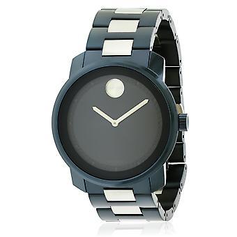 Movado 太字の青いイオン メンズ腕時計 3600422