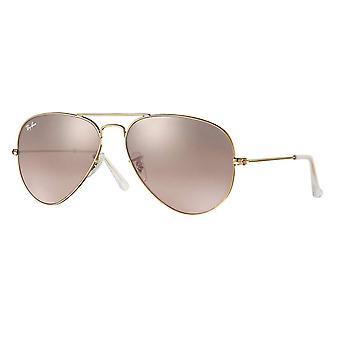 Gafas degradado espejo rosa de Ray-Ban aviador - RB3025-001/3E-58