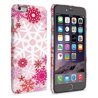 Caseflex iPhone 6 Plus and 6s Plus Winter Christmas Snowflake Hard Case - Red and Pink
