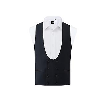 Dobell Mens Navy Tuxedo Waistcoat Regular Fit Double Breasted