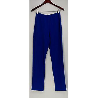 Susan Graver Women's Pants Essentials Lustra Knit Pull On Blue A285514