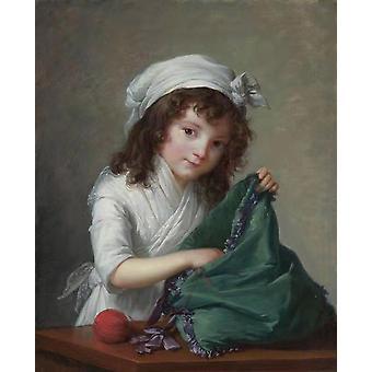 Mademoiselle Brongniart, Elisabeth Vigee Le Brun, 50x40cm