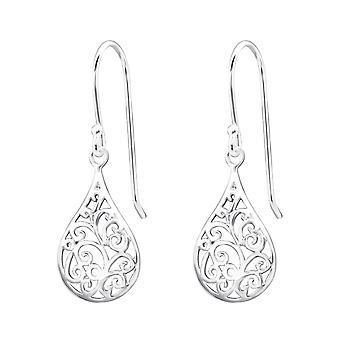 Teardrop - 925 Sterling Silver Plain Earrings - W20138X