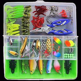 Lures kit di pesca kit scatola da placcaggio - 100pcs, verde