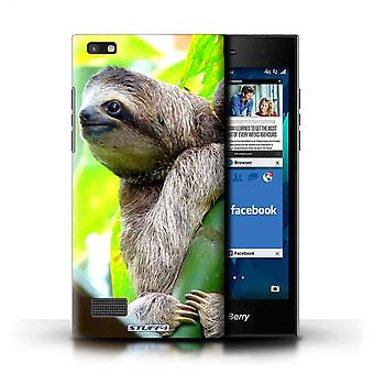 STUFF4 Case/Cover for Blackberry Leap/Sloth/Wildlife Animals