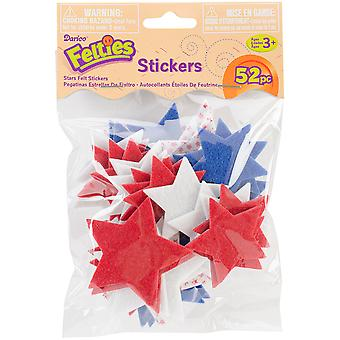 Feltie Stickers 52 Pkg Stars with Print Flt 1007