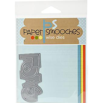 Paper Smooches Die-amour mot 2 DED294