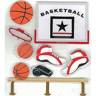 Jolee's Boutique Dimensional Stickers Basketball E5020242