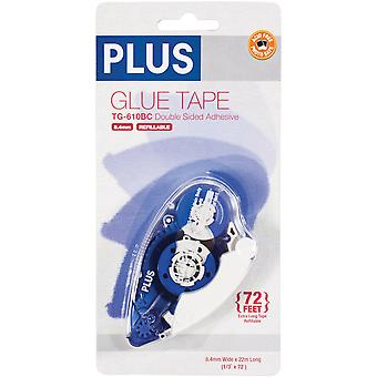 Plus Permanent Glue Tape Dispenser 8.4Mm X 20M 38 192