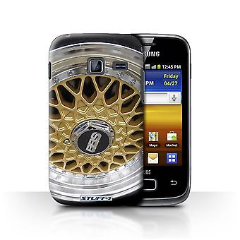 STUFF4 Case/Cover for Samsung Galaxy Y Duos/S6102/Gold/Chrome/Alloy Wheels