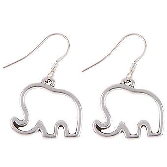 Carrie Elspeth Silver elefant dråbe øreringe