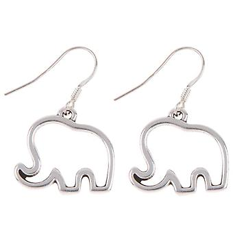 Carrie Elspeth Silver Elephant Drop Earrings