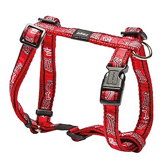 ROGZ FOR DOGS SCOOTER TUIG RED ROGZ BONE 16 MMX32-54 CM