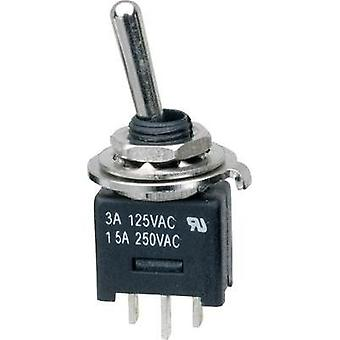 Toggle switch 250 Vac 3 A 1 x On/On SCI MTE102A1 latch 1 pc(s)