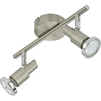 Ceiling floodlight LED GU10 6 W Briloner Cool 2991-022B Nickel (matt)