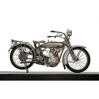 1916 Harley Davidson modell 16 5-35 enkelt motor motorsykkel plakatutskrift