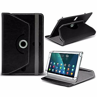 iTronixs - Acer Iconia Talk 7 B1-723 (7 Inch) Tablet Case PREMIUM PU 360 Rotating Leather Wallet Folio Faux 4 Springs Stand - Black