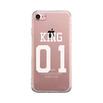 King01 Transparent Couple Matching Phone Case Cute Clear Phonecase